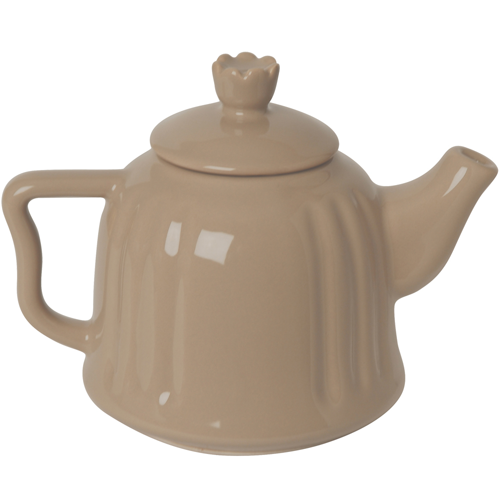 EXCELSA Chic陶製茶壺(淺棕0.6L)