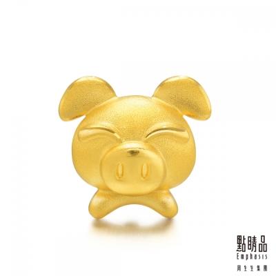 點睛品 Charme 十二生肖-豬 黃金串珠