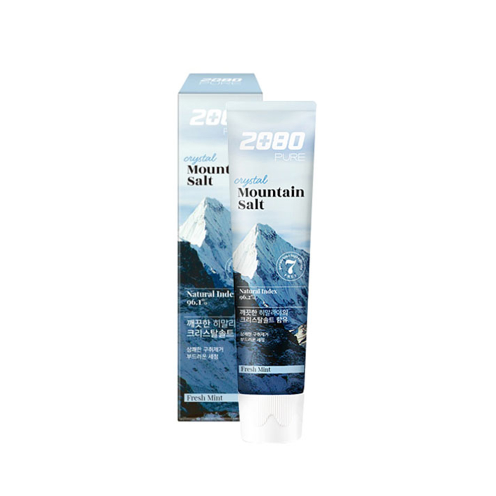 韓國2080 喜馬拉雅山水晶岩鹽牙膏120gX3入