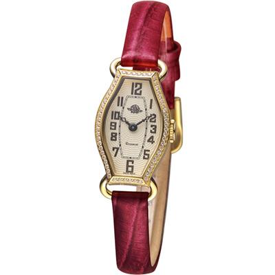玫瑰錶 Rosemont 骨董風玫瑰系列腕錶-咖啡/17x27mm