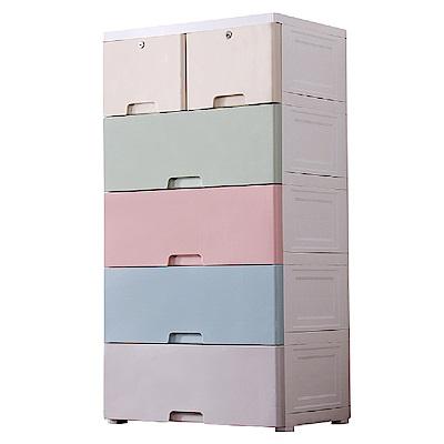 IDEA-馬卡龍色系60cm寬五層抽屜衣物玩具收納櫃