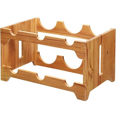 KitchenCraft 刺槐木雙層酒架