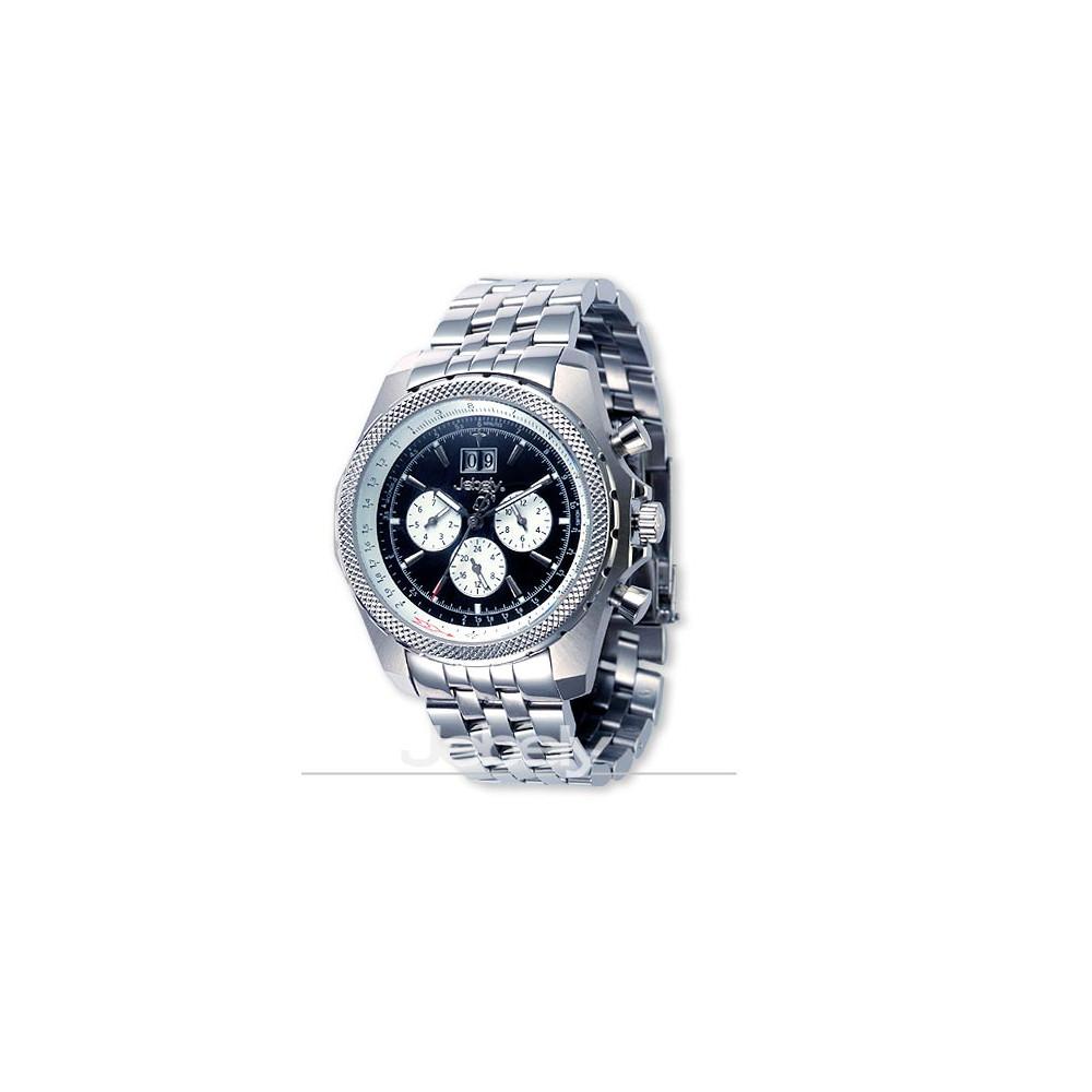 Jebely瑞士機械錶_伯尼納快車系列_正三眼造型多功能機械錶-黑/42mm