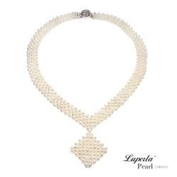 大東山珠寶 天然珍珠 晚宴禮服項鍊 歐美古典編織珠寶