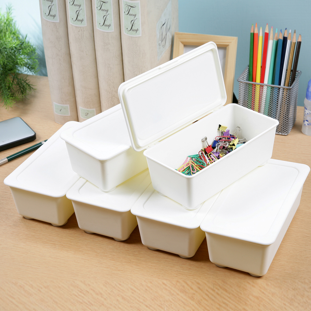創意達人方豆腐長型收納盒(6入)