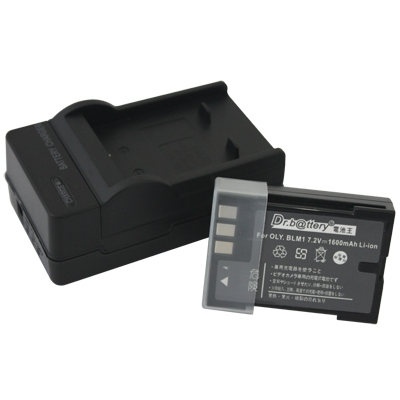 電池王 For OLYMPUS BLM-1/BLM1 高容量鋰電池+充電器組