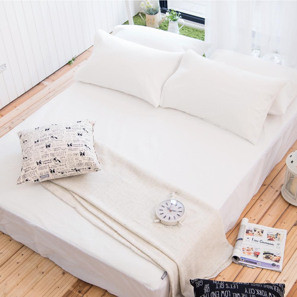 OLIVIA   標準雙人專利防水透氣床包式保潔墊  專利認證