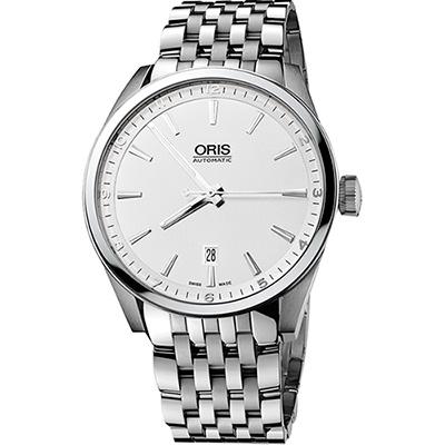Oris ARTIX DATE 新大錶冠機械腕錶~銀 42mm