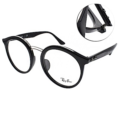 RAY BAN光學眼鏡 復古貓眼/黑#RB7110F 2000