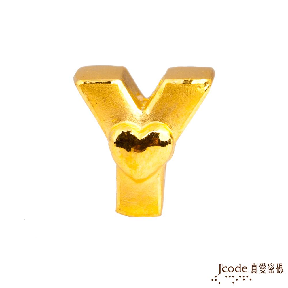 J'code真愛密碼 Y英文字母黃金串珠