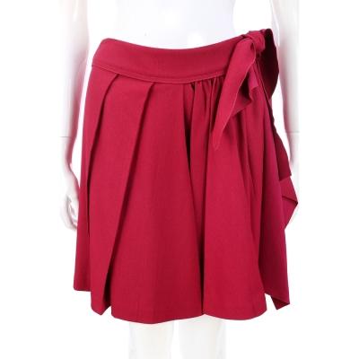 PHILOSOPHY 紫桃色抓褶綁帶設計短裙