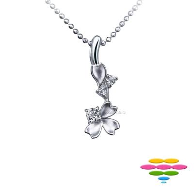 彩糖鑽工坊 9分 櫻花鑽石項鍊 櫻花系列