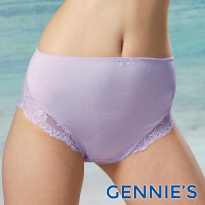 Gennies專櫃-010系列-孕婦內褲/中腰(孕期)(TB45-淡紫)