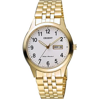 ORIENT 東方錶 數字石英腕錶-白x金/38mm