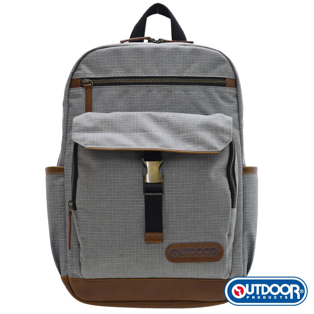 OUTDOOR-都很俊系列-13吋電腦後背包-M-淺灰-OD161168GY01