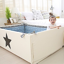 GGUMBI DreamB 韓國多功能圍欄地墊式嬰兒床-大星星