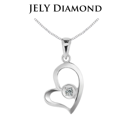 JELY 愛戀天使 約3分天然真鑽項鍊