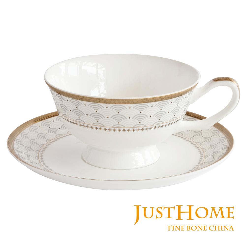 Just Home 安帝斯高級骨瓷6入咖啡杯盤組(不附收納架)