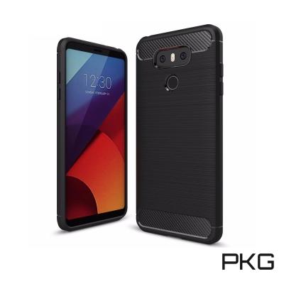 PKG LG G6 抗震防摔保護殼(碳纖維紋系列-紳士黑)
