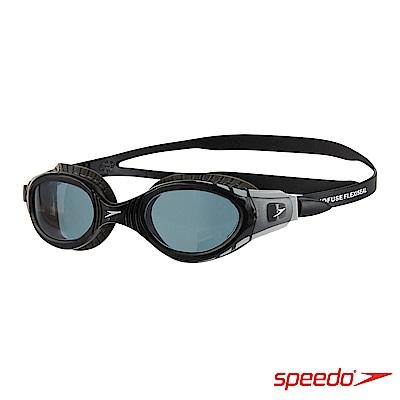 SPEEDO 成人運動泳鏡 Futura Biofuse 黑灰