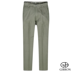 GIBBON 經典純色平口休閒褲‧卡其綠31~42