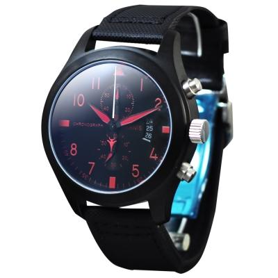 PARNIS 軍錶風格/三眼計時/飛行款/日期格窗/PA3093/45mm