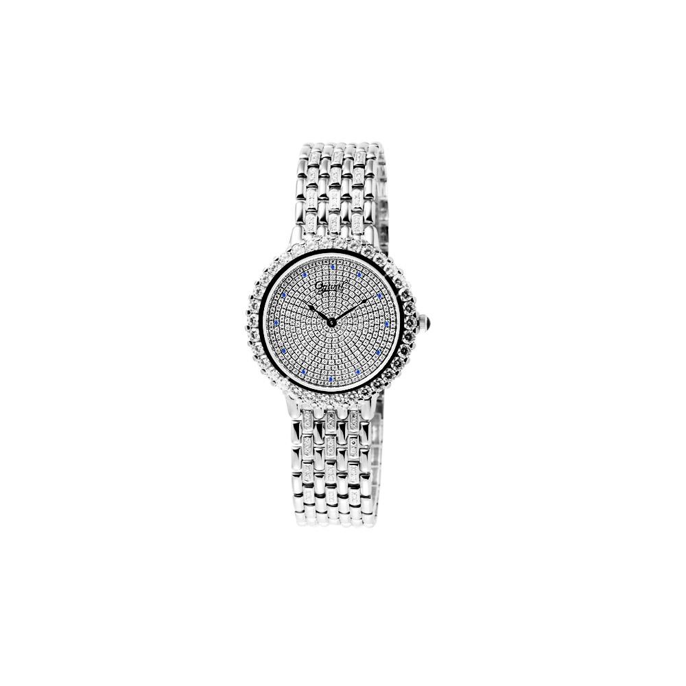Ogival  晶華典雅奧地利水晶鑽腕錶(銀)