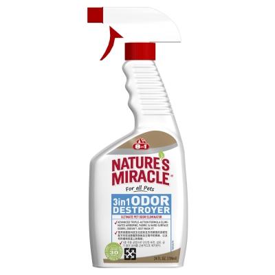 美國8in1 自然奇蹟 3in1去味除臭噴劑(清新香味) 24oz /709ml