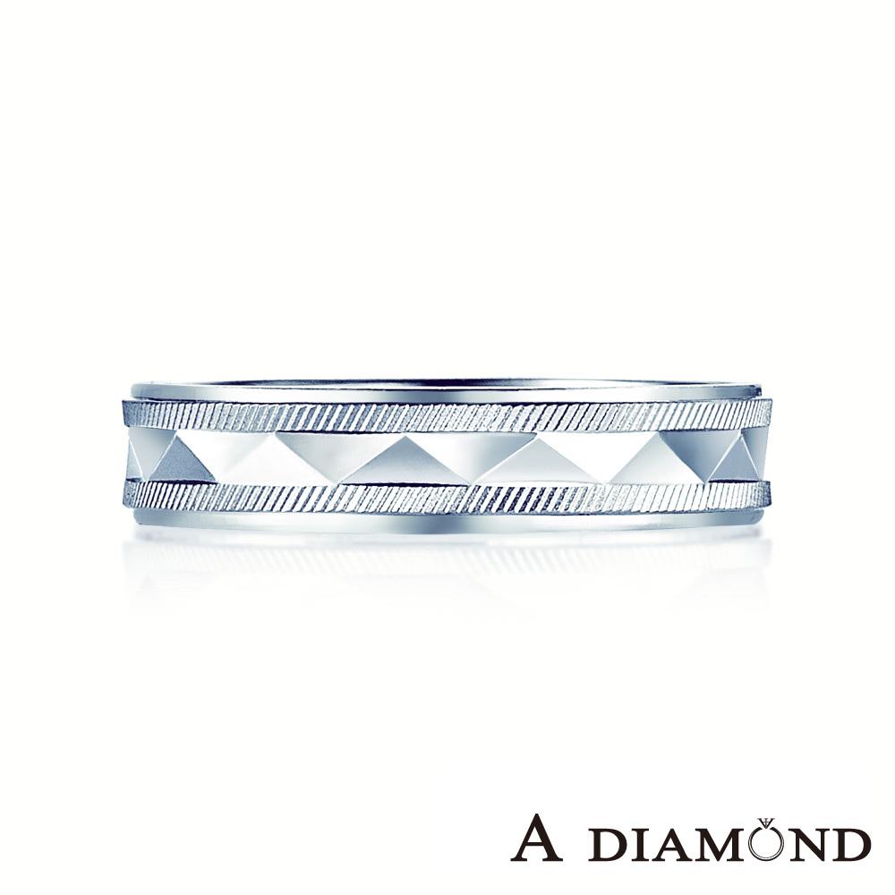 A Diamond 亞立詩鑽石 Unique 結婚戒 鉑金男戒