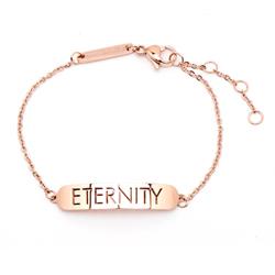 CK Calvin Klein 時尚雋永的ENTERNITYE 手鍊-玫瑰金