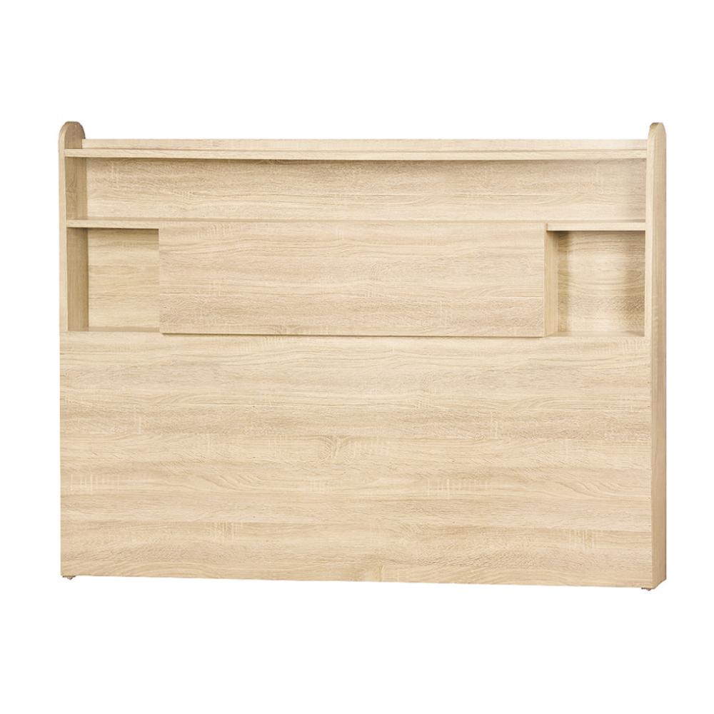 AS-麥基5尺原切橡木床頭片-152.5x10x110cm