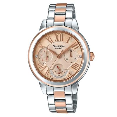 SHEEN優雅迷人風采羅馬數字時刻腕錶(SHE-3059SPG)玫瑰金面41.3mm