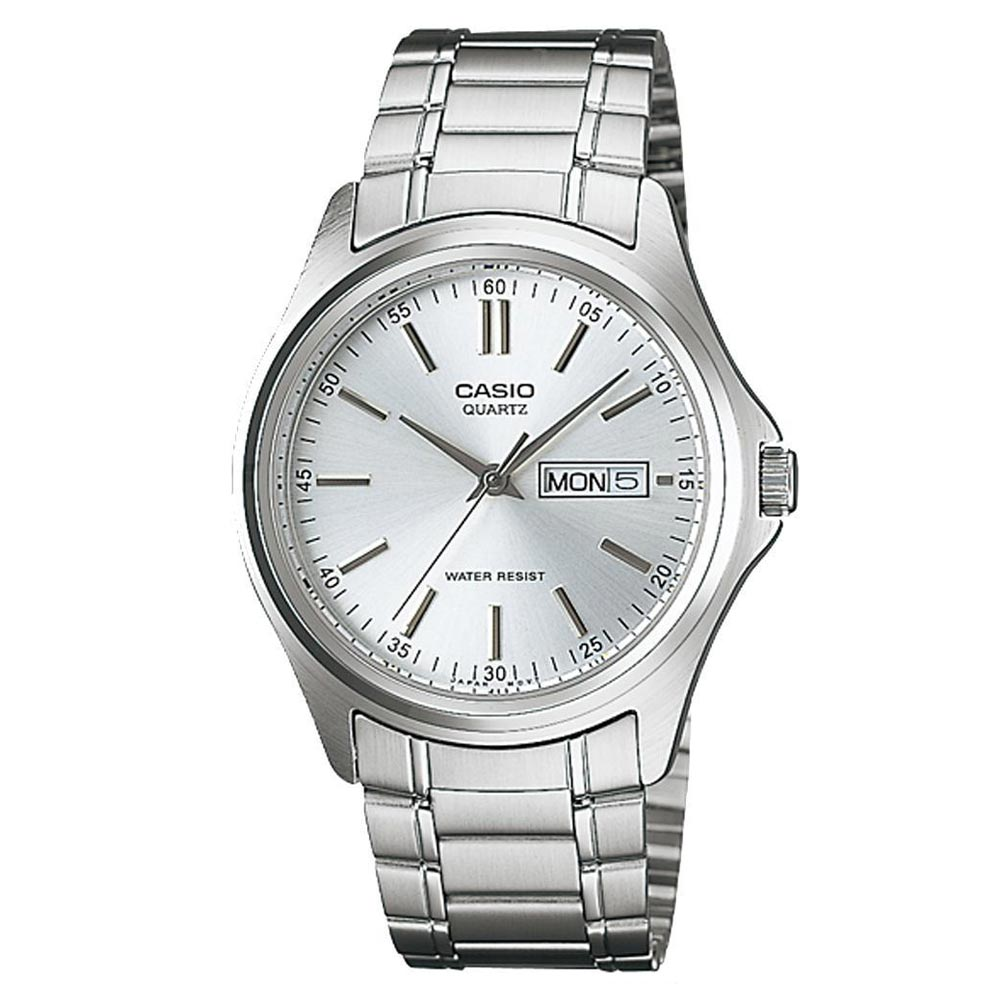 CASIO 經典簡約復古時尚日曆星期腕錶(MTP-1239D-7A)-白/40mm