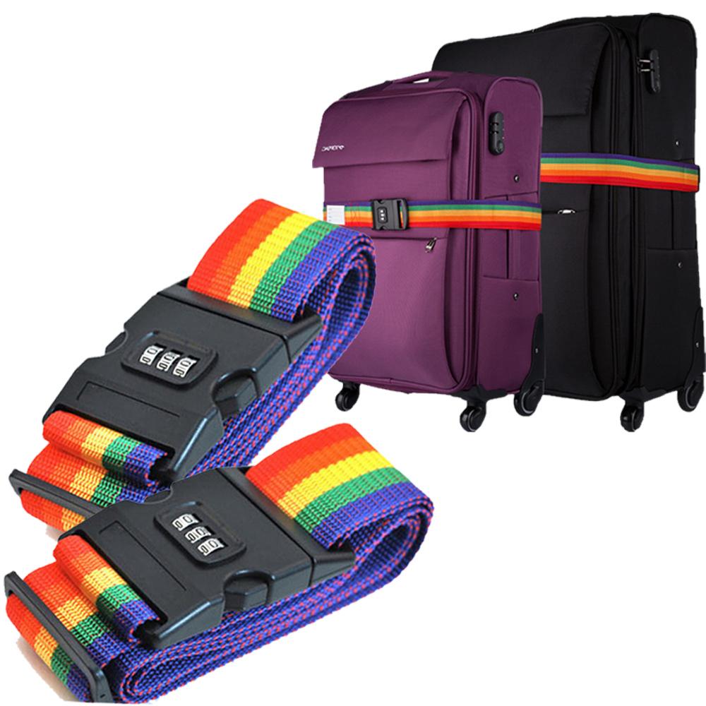 【超值2入】Kiret 可調式行李箱束帶 行李箱 密碼鎖 綁帶