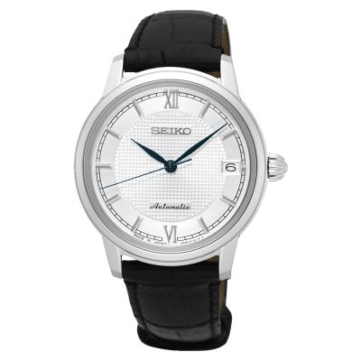 SEIKO Presage 羅馬時尚機械女錶(SPR861J1)-銀/34mm