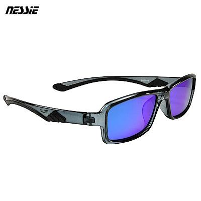 Nessie尼斯眼鏡 經典休閒偏光太陽眼鏡-獵豹黑灰
