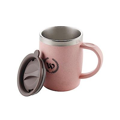 PUSH! 辦公室保溫咖啡杯冷泡茶杯沖泡杯304不袗保溫杯帶蓋420ML E102