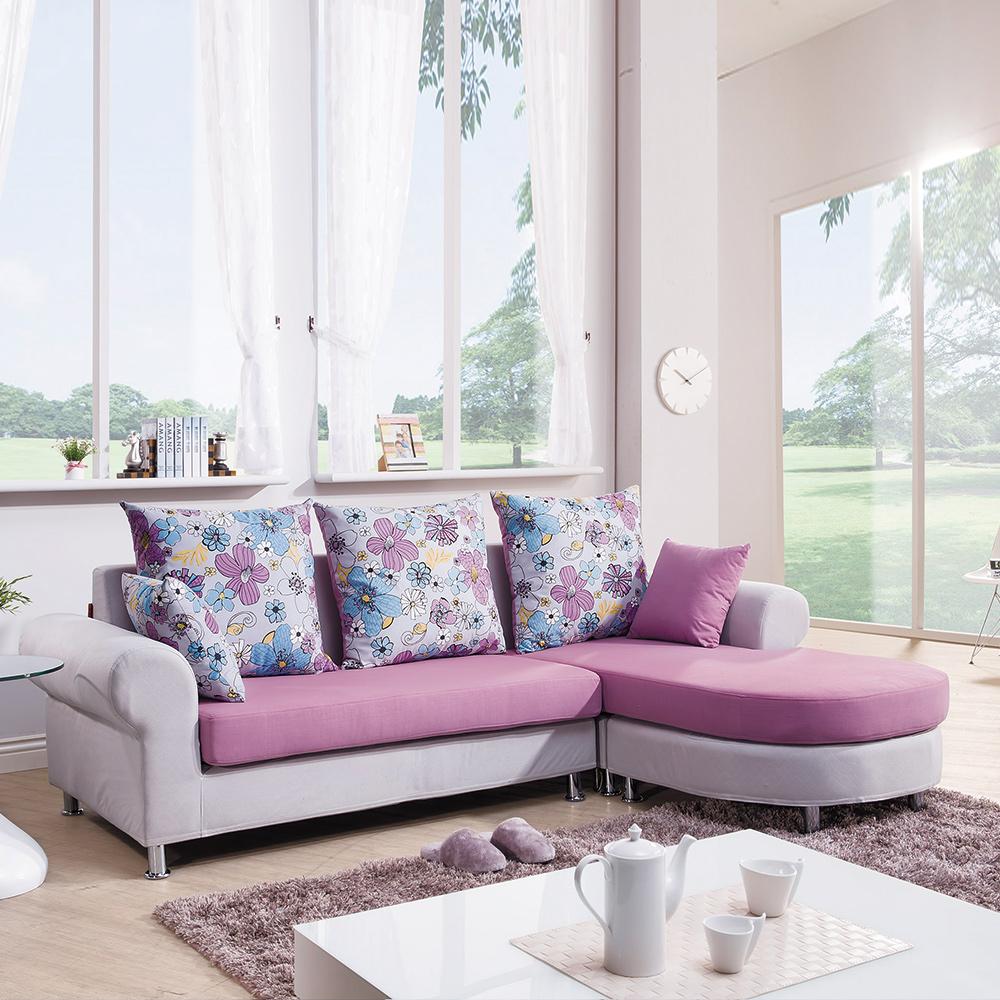 沙發 L型 喜諾莉L型布沙發