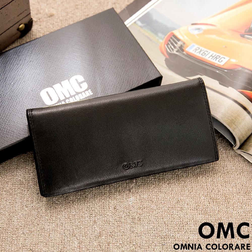 OMC - 韓系柔軟牛皮款真皮12卡2照長夾