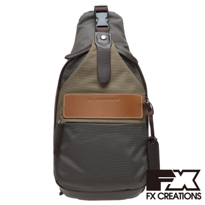 FX CREATIONS Appel系列 腰掛斜揹兩用包-深棕 FFG69566-45