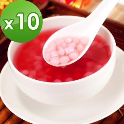 樂活e棧-洛神花蒟蒻小湯圓(共10組)-素食可食
