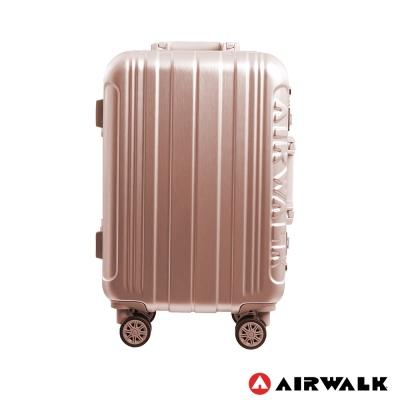 AIRWALK LUGGAGE - 金屬森林 鋁框行李箱 20吋ABS+PC鋁框箱-玫銅金