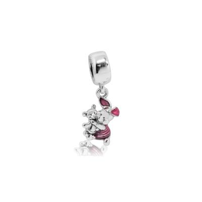 Pandora 潘朵拉  迪士尼系列小豬琺瑯 純銀墜飾 串珠