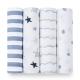 美國 aden+anais輕柔新生兒包巾(4入)-搖滾巨星系列 AA2046 product thumbnail 1