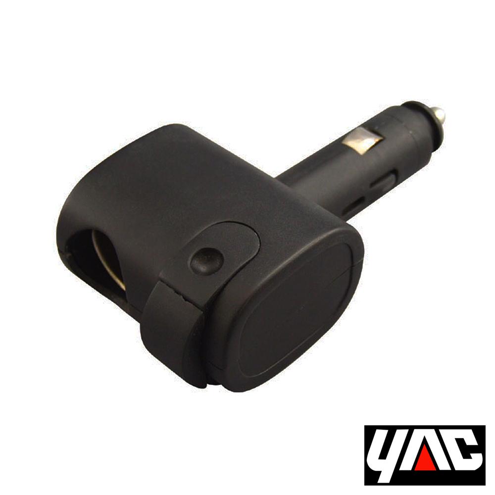 YAC單孔12V附USB電源擴充器