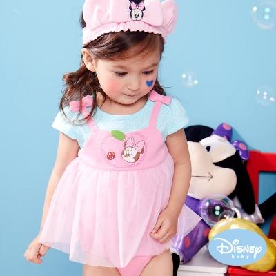 Disney Baby 小公主米妮假兩件包屁衣 粉紅