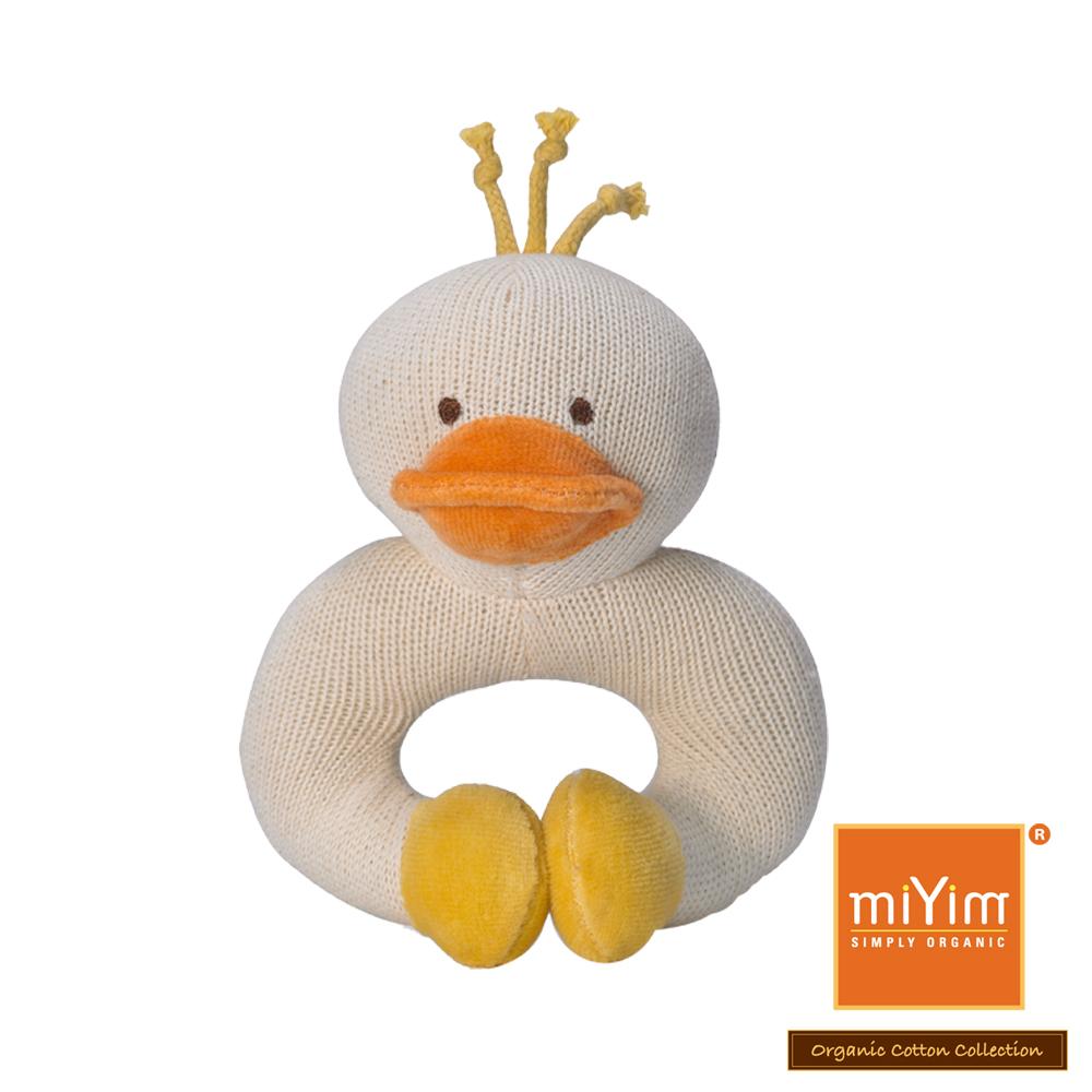 美國miYim有機棉 固齒器 手圈圈款-鴨子