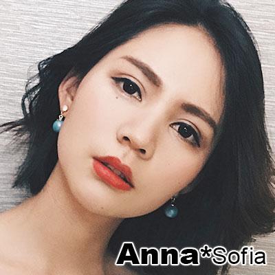 AnnaSofia 幻虹珠彩 耳針耳環(藍珠金系)
