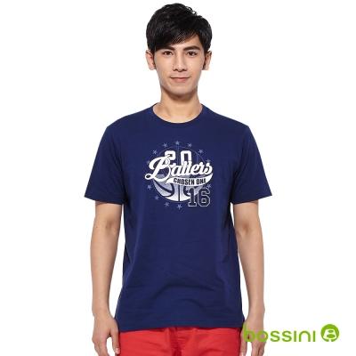 bossini男裝-印花短袖T恤57海軍藍
