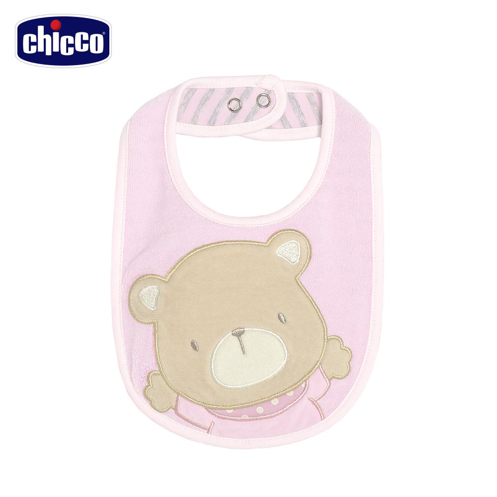 chicco-玫瑰公主小熊雙面圍兜